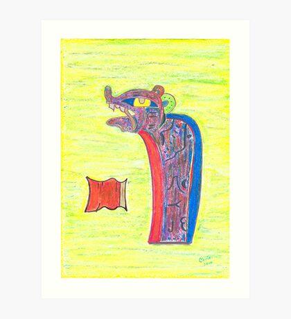 Mayan Jaguar Art Print