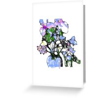 Happy Easter (flower vase) Greeting Card