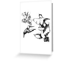 black n white hummers Greeting Card