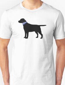 Black Labrador Retriever Preppy Silhouette T-Shirt