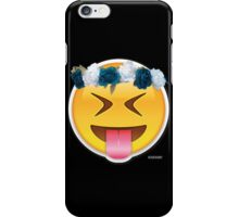 Crazy Flower Crown Emoji iPhone Case/Skin