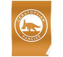 Ceratopsian Fancier Print Poster