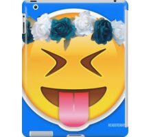 Crazy Flower Crown Emoji iPad Case/Skin