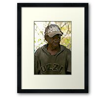 A REal Person Framed Print