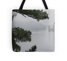Foggy Morning in Sioux Narrows Tote Bag