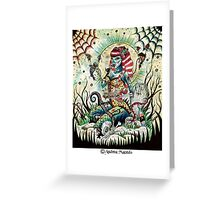 zombie pinup Greeting Card