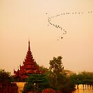 Wind Course above Mandalay Palace by Brian Bo Mei