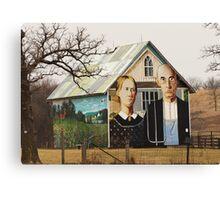 An American Gothic Canvas Print