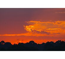 Tangerine Daybreak Over The Hills Photographic Print