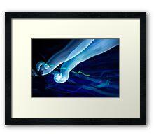 Epcot light trails  Framed Print
