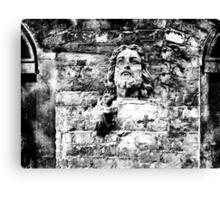 Brick Wall Jesus Canvas Print