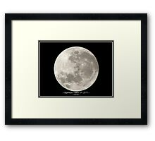 ~ Supermoon ~ March 19 ~ 2011 ~ Framed Print