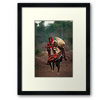 Off to Market in Bahir Dah Framed Print