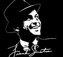 Frank Sinatra - Portrait and signature by brookestead