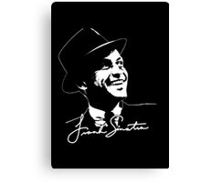 Frank Sinatra - Portrait and signature Canvas Print