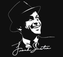 Frank Sinatra - Portrait and signature Baby Tee