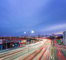 Car Light Trails by Glauco Meneghelli