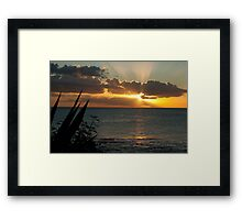 Tropical sunset,Mauritius  Framed Print