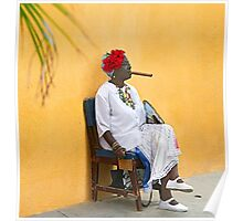 Lady with Cigar Poster