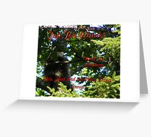 Up A Tree Top Ten Winner Greeting Card