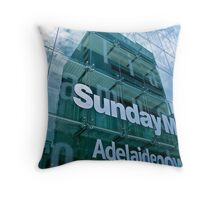 The Advertiser Building, Adelaide Throw Pillow