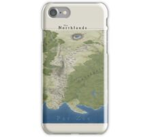 The Northlands map iPhone Case/Skin