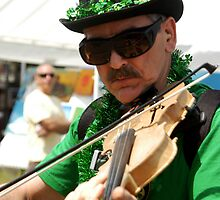 Irish Fiddler by Bill Gamblin