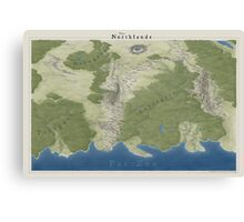 The Northlands map Canvas Print