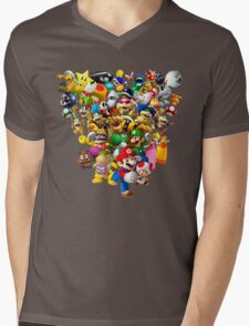 Mario Bros - All Star Mens V-Neck T-Shirt