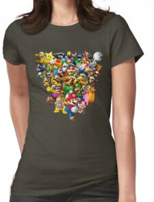 Mario Bros - All Star Womens Fitted T-Shirt