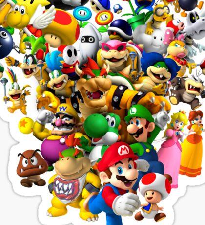 Mario Bros - All Star Sticker