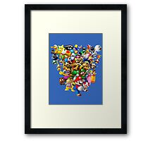 Mario Bros - All Star Framed Print