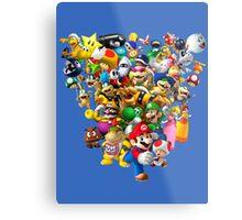 Mario Bros - All Star Metal Print