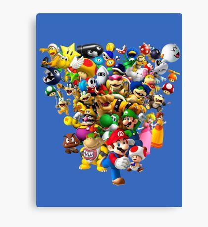 Mario Bros - All Star Canvas Print
