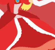 Peach (Red) - Super Smash Bros. Sticker