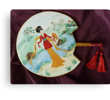 Japanese Decorated Fan Canvas Print