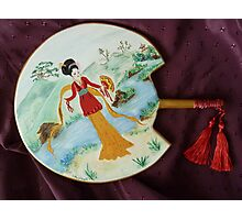 Japanese Decorated Fan Photographic Print