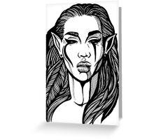 Dark Elf Greeting Card