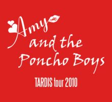 Amy and the Poncho Boys TARDIS Tour 2010 Kids Tee