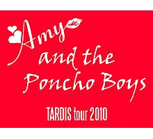 Amy and the Poncho Boys TARDIS Tour 2010 Photographic Print