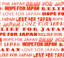 Relief for Japan Sticker