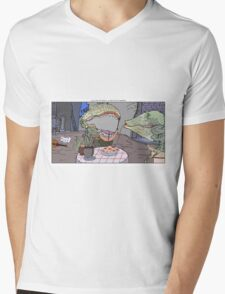 Lady and the Tramp + Little Shop of Horrors Mens V-Neck T-Shirt
