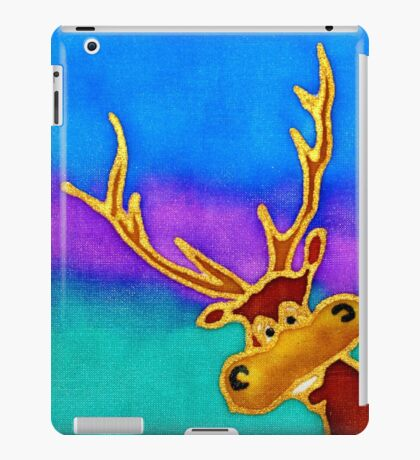 silly stag quilt size iPad Case/Skin