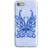 Blue Sparkle Fairy Wings iPhone Case/Skin