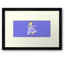 Peach (Blue) - Super Smash Bros. Framed Print