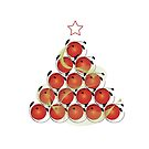 Christmas Tree T and Sticker (3) by catherine bosman