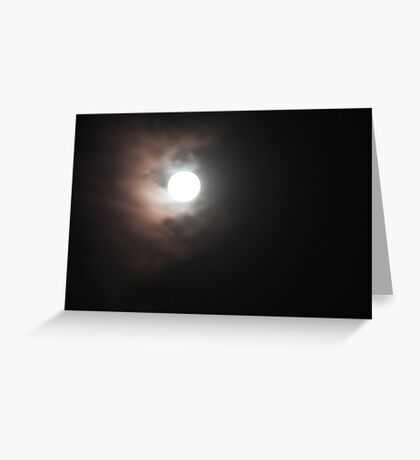 Moon over Munday Greeting Card