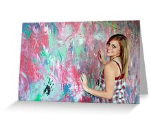 Finger Painting Greeting Card