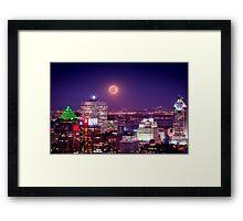 Super Moon Over the City Framed Print