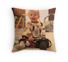 """""""Hand Me Down"""" Throw Pillow"""